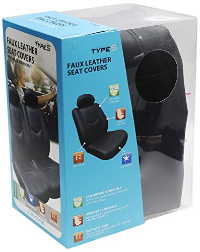 Type S SC54942-6//1 Black Universal Seatcover 2 Pack