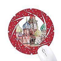 ロシアのモスクワのクレムリン大宮殿 円形滑りゴムの赤のホイールパッド