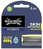 Wilkinson Sword Hydro 5 Skin Protection Advanced - 4 Recambios de Cuchillas de Afeitar de 5 Hojas con Banda Lubricante Enriquecida con Mentol, Compatible para Cualquier Maquinilla Hydro
