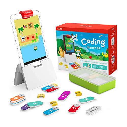 Osmo - Coding Starter Kit for Fire Tablet - 3 Hands-on Learning Games - Ages 5-10+ - Learn to Code, Coding Basics & Coding Puzzles Fire Tablet Base Included
