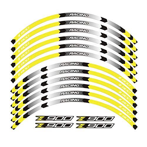 12 PCS Ajuste de la Rueda de la Rueda de la Rueda de la Rueda de la Raya del Borde Reflectante de Kawasaki Z900 (Color : 3)