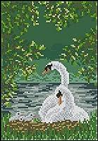 クロスステッチキットDIY刺繡工芸品キット湖の白い白鳥(11CT)刺繡スターターキットのフルレンジ大人の子供初心者の針仕事ユニークなギフト家の壁の装飾16x20インチ