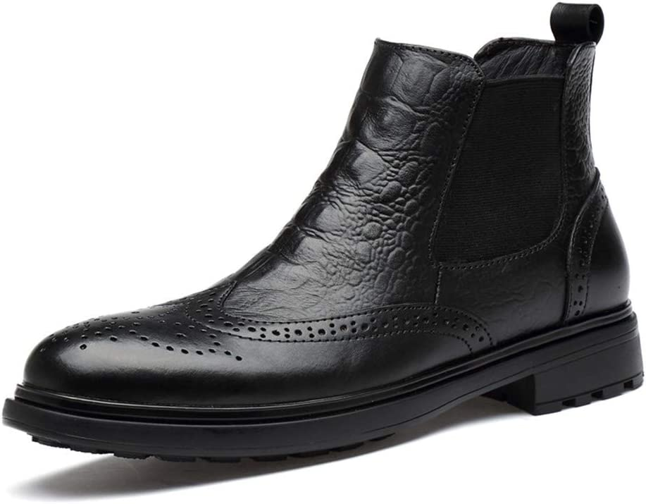 NiubiyaXuzi Winter Ankle Minneapolis Mall Boot for Chelsea Men Unfeigned Sale Lea