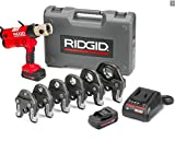 Ridgid 43353 RP 340 Battery Press Tool Kit with ProPress Jaws, 1/2-Inch -1-Inch