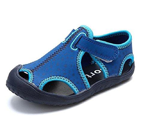 AILEESE , Sandales Compensées bébé garçon, Bleu Marine, UK 15.5/ EU 35/Foot length:2.18CM