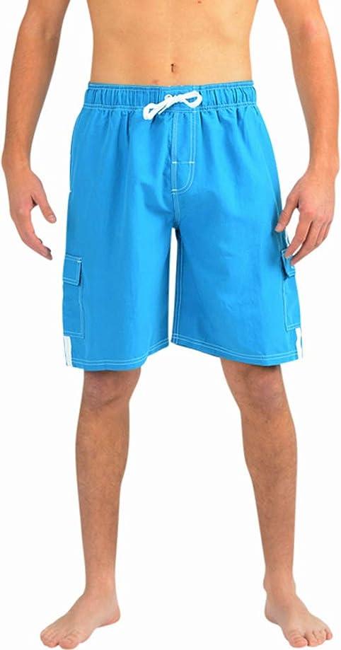 NORTY Mens Swim Trunks - Watershort Swimsuit - Cargo Pockets - Drawstring Waist