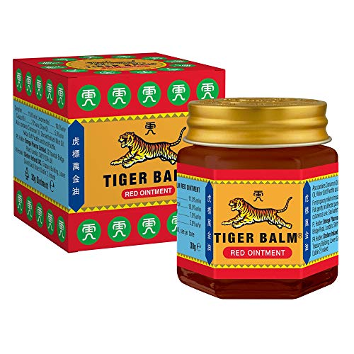 Tiger Balm Red Ointment 30 g - Temporary Relief from minor Muscular Aches and Pains