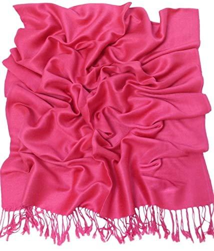 CJ Apparel Rosa Caliente Diseño Sólido Color Chal Pashmina Abrigo de la Bufanda de la Estola Secondi NUEVO