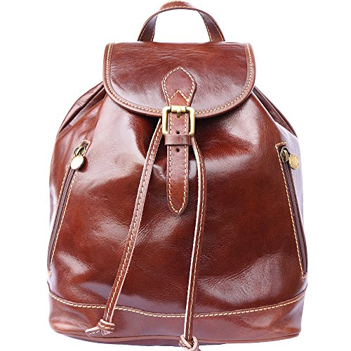 FLORENCE LEATHER MARKET Zaino in pelle 6560 (Marrone)