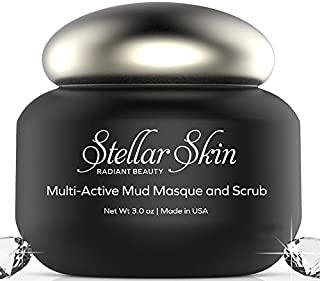 Mud Mask and Facial Scrub - Two-in-One, Best Facial Beauty Treatment, Anti Aging Microdermabrasion Face Mask, Remove Wrink...