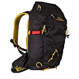 La Sportiva Moonlite Backpack Mochila, Adultos Unisex, Black/Yellow (Multicolor), Talla Única
