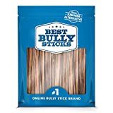Best Bully Sticks 6-inch Gullet Thin Stick Dog Treats (25 Pack) - All-Natural Beef Dog Treats - Hollow, Quick Chew Snack for All Dogs - Great for Teething Puppies, Senior Dogs, Light Chewers