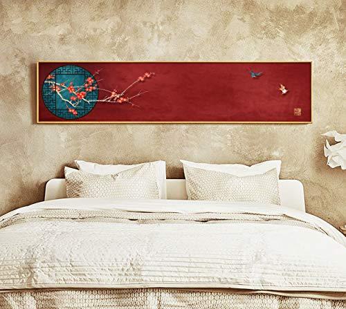 Chinesische Art Pflaumenblüte Tier Leinwand Gemälde Wandbilder Drucke Wohnzimmer Schlafzimmer Bett Home Decor Poster