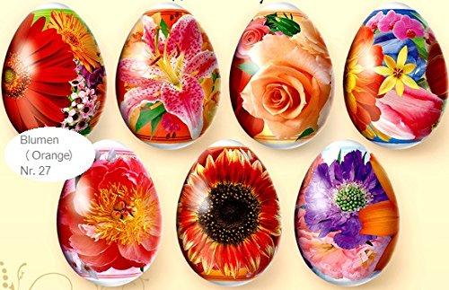 ukrainisches-kunsthandwerk Ostereier Schrumpffolie. Blumen Orange. Nr.27 reicht für 7 Eier