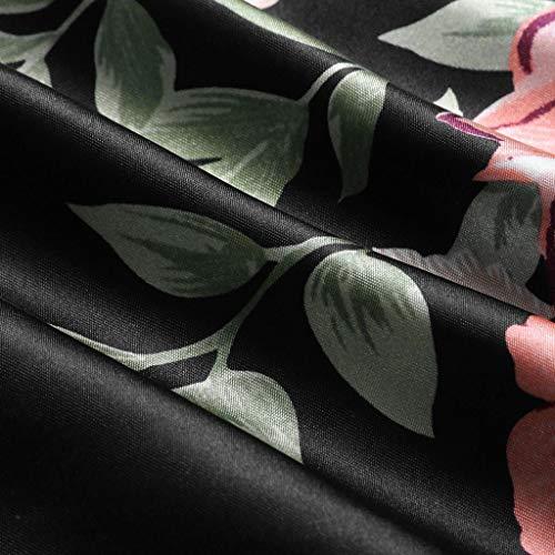 Ropa de Dormir para Mujeres,SHOBDW Regalo de día de San Valentín Ropa Interior Camisola Tops Pantalones Cortos Flor de Encaje Lencería Tentación Mono Ropa de Dormir 2PCS(Negro,L)