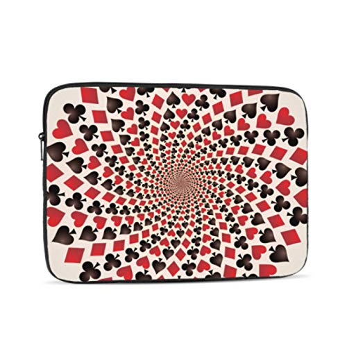 2018 MacBook Pro Accessories Card Suit Hearts Diamonds Spades Clubs Cover MacBook Pro Multi-Color & Size Choices10/12/13/15/17 Inch Computer Tablet Briefcase Carrying Bag