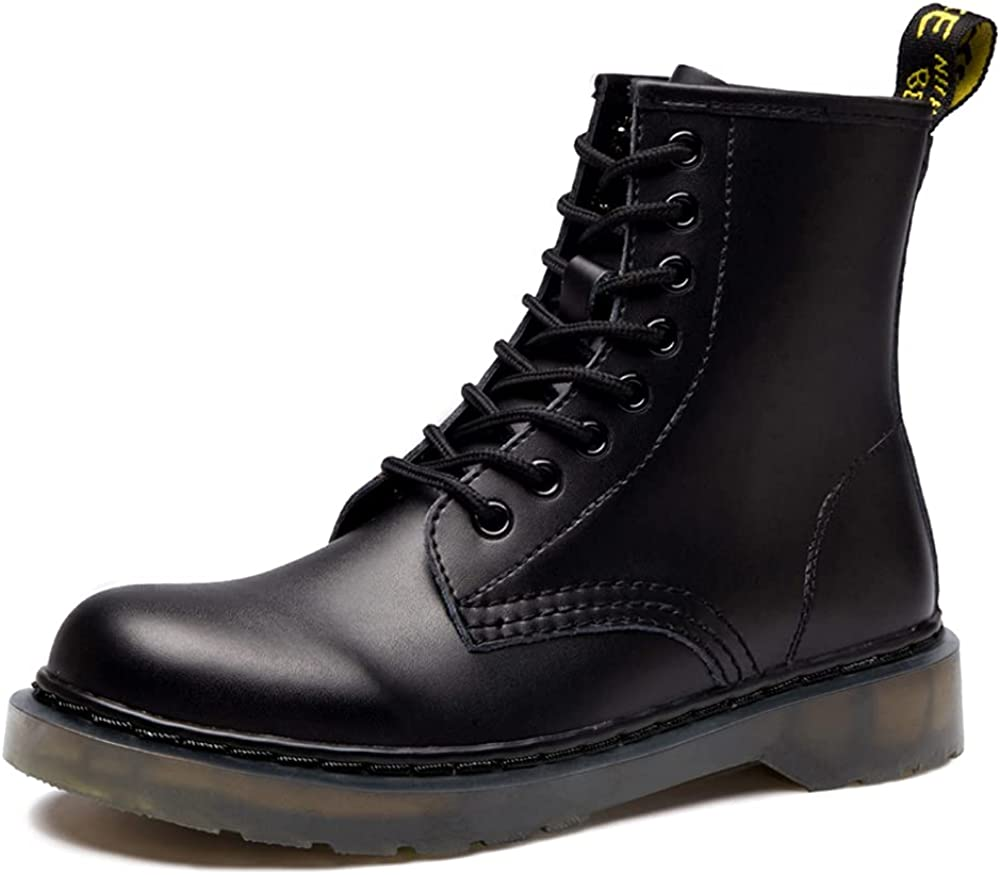 Women'S Round store Toe New color Lase-up Ankle Leather Combat Boots Ladies