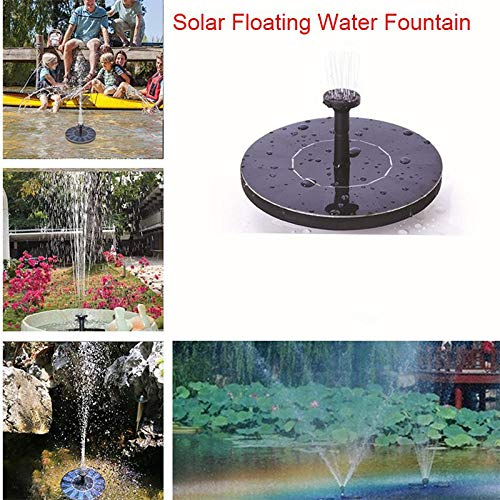 JunziWing Garden Pool Mini Zonne Energie Fontein Vijver Zonnepaneel Drijvende Fontein Tuin Decoratie Fontein