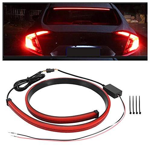 Qiilu Luce di stop per montaggio in auto, luci di arresto posteriori universali per luci di posizione Indicatore di direzione a strisce Lampada a LED(Modalità multipla)