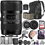 Sigma 18-35mm F1.8 Art DC HSM Lens for Nikon DSLR Cameras + Sigma USB Dock with Altura Photo Advanced Accessory and Travel Bundle