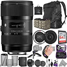 Sigma 18-35mm F1.8 Art DC HSM Lens for Nikon DSLR Cameras + Sigma USB Dock with Altura Photo Advanced Accessory and Travel Bundle