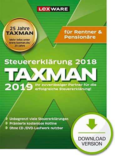 Lexware Taxman 2019 Download für das Steuerjahr 2018|Übersichtliche Steuererklärungs-Software für Rentner und Pensionäre