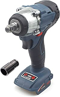 """QUPER Cordless Impact Wrench, Includes Direction Control & Variable Speed Trigger & LED Job Light(½"""" Square Drive, 350Nm T..."""