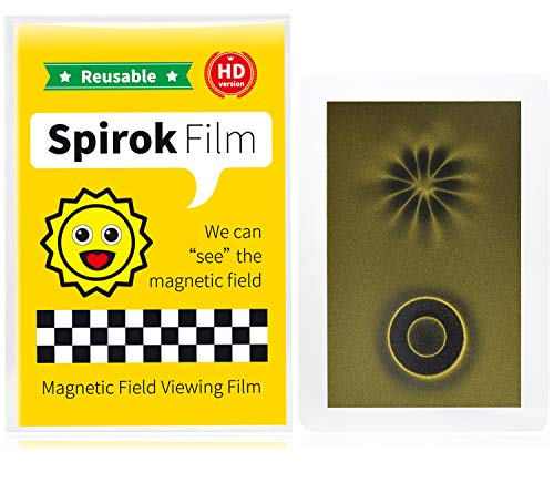 Spirok Film - Magnetic Field Viewing Film - Credit Card Size with Lamination - Magnet Pattern Detector - Science Fun