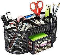 AmazonBasics DSN-02950 Mesh Desk Organizer, Black