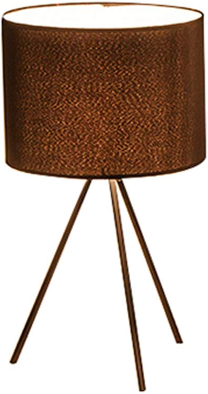 AIZYR LED E27 Table Lamp Minimalistisch Für Schlafzimmer Wohnzimmer Dekoration Beleuchtung Schwarzes Eisen Stoff Am Krankenbett Dimmer Desk Lamp