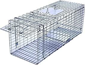 Faicuk Large Collapsible Humane Live Animal Cage Trap for Raccoon, Opossum, Stray Cat, Rabbit, Groundhog and Armadillo - 32