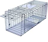 Faicuk Large Collapsible Humane Live Animal Cage Trap for Raccoon, Opossum, Stray Cat, Rabbit, Groundhog and Armadillo -...