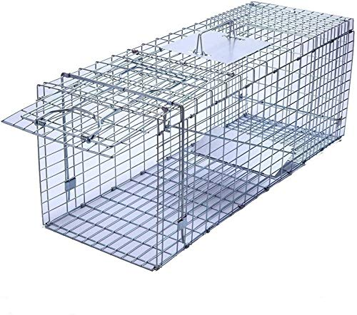 Faicuk Large Collapsible Humane Live Animal Cage Trap for Raccoon, Opossum, Stray...