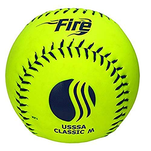 Baden USSSA Classic M Synthetic Cover Slowpitch Softball 12' (One Dozen)