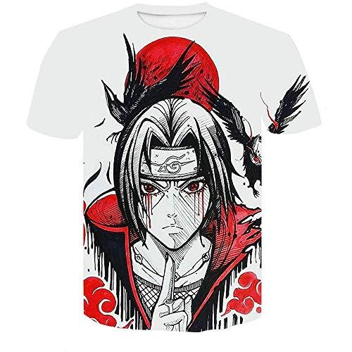 Stretch Camiseta para Hombre,Una Pieza 3D impreSión Digital Casual Camiseta de Manga Corta para hombreS-Xt466_M