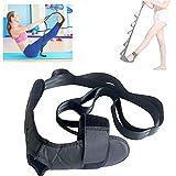 Correa de Yoga, Cinturón de Estiramiento de Yoga Correa de Rehabilitación Fitness,para Fisioterapia Fascitis Plantar Entrenamiento de piernas Correcciones Negro