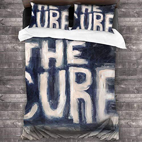The Cure överkast överkast set täcke 3-delad sängkläder set 200 x 180 cm täcke set sängkläder, örngott 50 x 76 cm