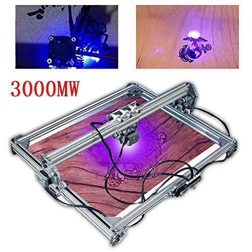 CNC Laser Graviermaschine Kit 65x50 cm 2 Achsen Frasmaschine 12V Lasergravur Maschine mit Offline Controller für Holz Kunststoff Hörner Brieftasche Telefon Shell (3000mw)