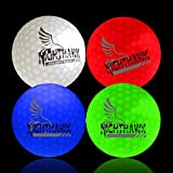 NightHawk 4 Light Activated LED Light Up Golf Balls Glow in The Dark Official Size Weight Constant On