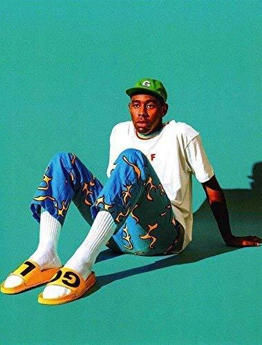 Pôster do diretor de música do produtor de discos da Big Mart Collection Tyler The Creator American Rapper, 12 x 18 polegadas