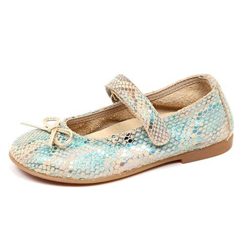 Naturino E2716 Ballerina Bimba beige/Turchese Scarpe Shoe Kid Baby Girl [24]