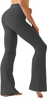 "BUBBLELIME 29""/31""/33""/35""/37"" Inseam Bootcut Yoga Pants High Waist Moisture Wicking Long Bootleg"