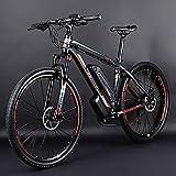 Lincjly 2020 mejorada eléctrico bicicleta de montaña, de 26 pulgadas bicicleta híbrida / (36V10Ah) 24 Velocidad de 5 la velocidad del sistema de potencia frenos de disco mecánicos bloqueo frontal abso