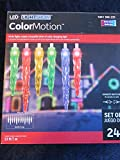 LED LightShow COLORMOTION Set of 24 Multicolored Icicle Lights!