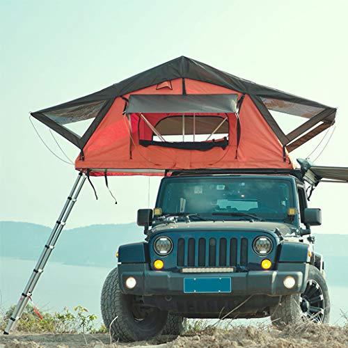Zelt ADKINC Dachzelt, Hard Shell Pickup Truck Bettzelt Autos LKWs SUVs Camping Travel Mobile Für Outdoor Camping - (mit hydraulischem Klappsystem) - 2/3 Person