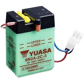 YUASA BATERIA 6N4B-2A-3 abierto sin /ácido
