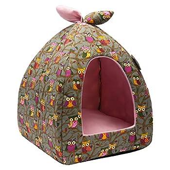 Hollypet Auto-réchauffement 2-in-1 Tente de lit de Chat Chat Confortable Triangle Confortable
