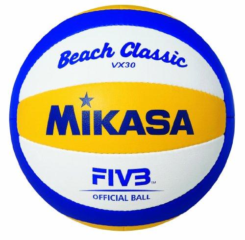 MIKASA VX30 Mikasa VX-30 - Balón de Voleibol, Color Azul/Amarillo / Blanco, Talla 5, Amarillo, 5