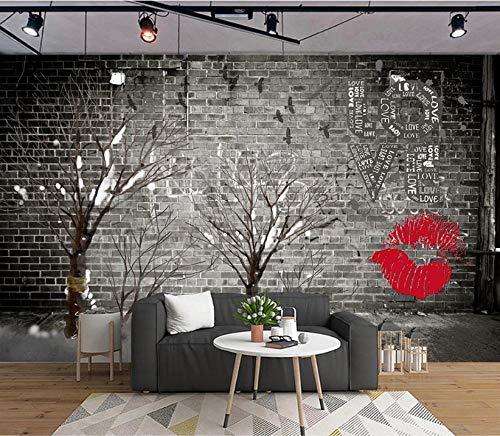 fototapete 3d effekt wand dekoration vlies Tapete moderne dekoration wanddeko Wandbilder 300x210cm Vögel auf Trockenmauer Retro Wand