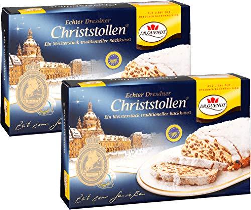 Dr. Quendt Christstollen Dresdner Stollen mit rosinen Original 2 x 1 kg.